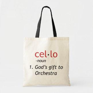 Definición del violoncelo bolsa tela barata