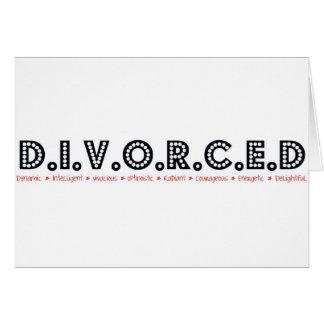 Definición femenina divorciada tarjeta