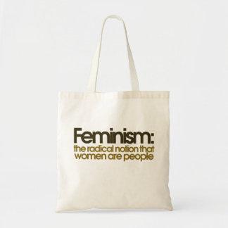 Definición feminista bolsa tela barata