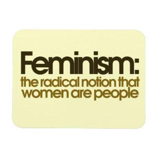 Definición feminista iman flexible