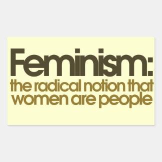 Definición feminista pegatina rectangular
