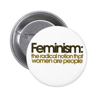 Definición feminista pin redondo de 2 pulgadas