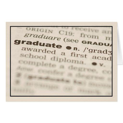 Definición graduada 3700 tarjeta de felicitación