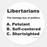Definición libertaria pegatina redonda