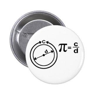 Definición matemática del pi pin redondo de 2 pulgadas