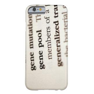 Definiciones de la química en el papel funda de iPhone 6 barely there