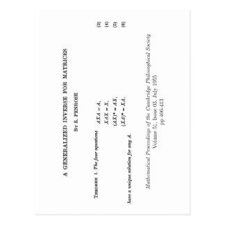 Definiciones de Moore-Penrose Postales