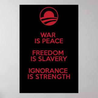 Definiciones de Orwellian/de Obamian Posters