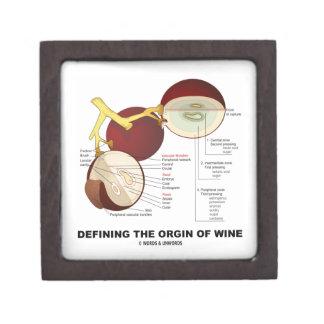 Definiendo el origen del vino baya de la uva de v caja de recuerdo de calidad