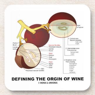 Definiendo el origen del vino baya de la uva de v posavasos