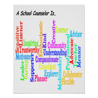 Defining School Counselor Poster 16 x 20