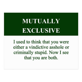 Defining the Meaning of Mutually Exclusive (2) Postcard
