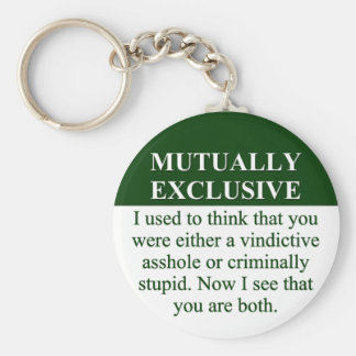 Defining the Meaning of Mutually Exclusive (3) Keychain