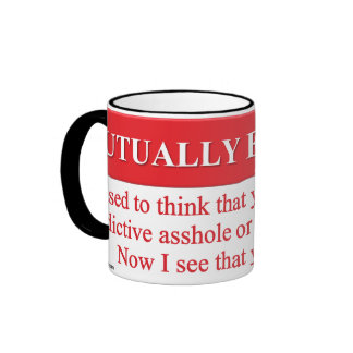 Defining the Meaning of Mutually Exclusive Ringer Coffee Mug