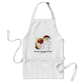 Defining The Origin Of Wine (Wine Grape Berry) Adult Apron