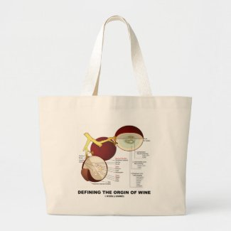 Defining The Origin Of Wine (Wine Grape Berry) Tote Bags