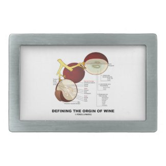 Defining The Origin Of Wine (Wine Grape Berry) Belt Buckles
