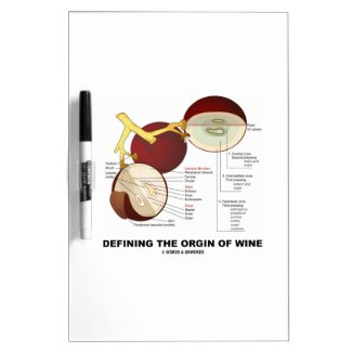 Defining The Origin Of Wine (Wine Grape Berry) Dry-Erase Boards