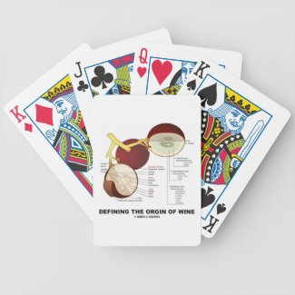 Defining The Origin Of Wine (Wine Grape Berry) Bicycle Playing Cards