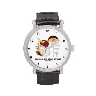 Defining The Origin Of Wine (Wine Grape Berry) Wristwatch