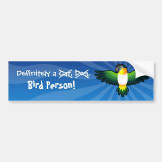 Definitely a Bird Person (Caique/Lovebird/Pionus) Bumper Sticker