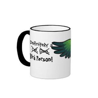 Definitely a Bird Person (Caique/Lovebird/Pionus) Ringer Coffee Mug