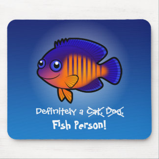 Definitely a Fish Person (angelfish 1) Mouse Pad