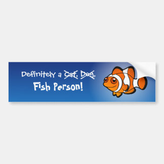 Definitely a Fish Person (clownfish) Bumper Sticker