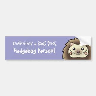 Definitely a Hedgehog Person Car Bumper Sticker