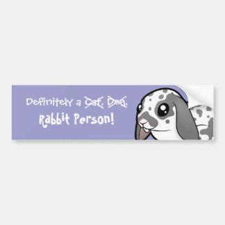 Definitely a Rabbit Person (floppy ear smoo hair) Bumper Sticker