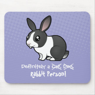 Definitely a Rabbit Person (uppy ear smooth hair) Mouse Pad