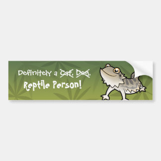Definitely a Reptile Person (bearded dragon) Bumper Sticker