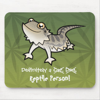 Definitely a Reptile Person (bearded dragon) Mouse Pad