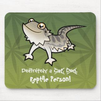 Definitely a Reptile Person (bearded dragon) Mousepad