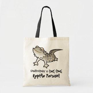 Definitely a Reptile Person (bearded dragon) Tote Bag