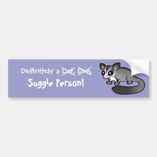 Definitely a Sugar Glider Person Bumper Sticker