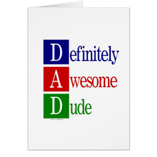 Definitely Awesome Dude: gifts for awesome dads. Card