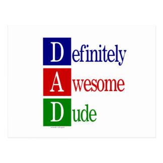 Definitely Awesome Dude: gifts for awesome dads. Postcard