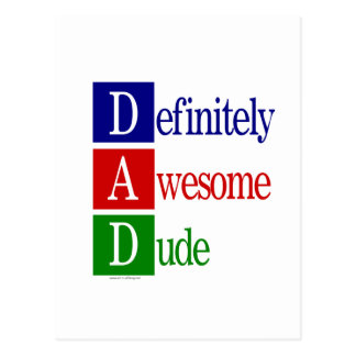 Definitely Awesome Dude: gifts for awesome dads. Post Cards