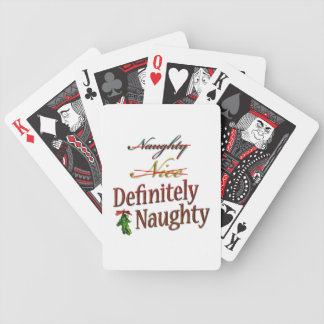 Definitely Naughty Bicycle Playing Cards