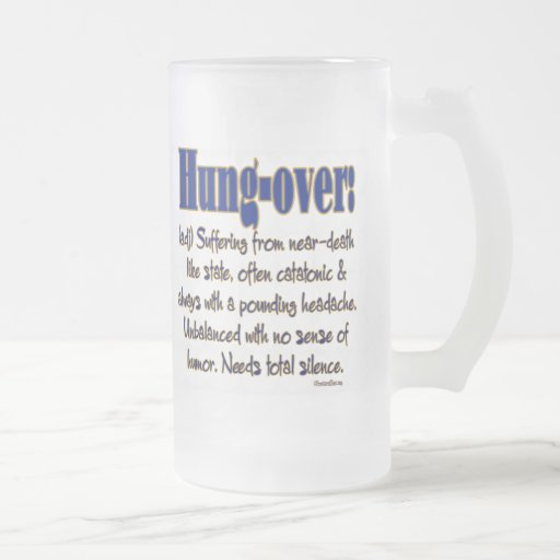 Definition Hung-over Coffee Mugs