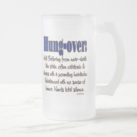 Definition Hung-over Frosted Glass Beer Mug