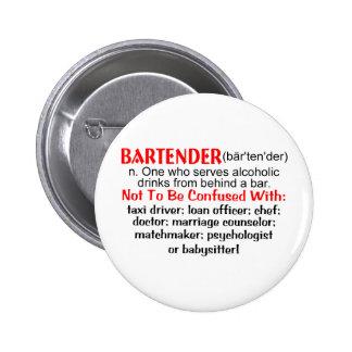 Definition of a Bartender 2 Inch Round Button
