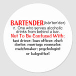 Definition of a Bartender Stickers