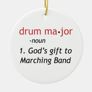 Definition of a Drum Major Ceramic Ornament
