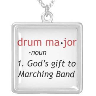 Definition of a Drum Major Silver Plated Necklace