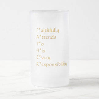 """""""Definition of a Father"""" Frosted Glass Beer Mug"""