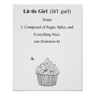 Little Cupcake Posters & Photo Prints | Zazzle