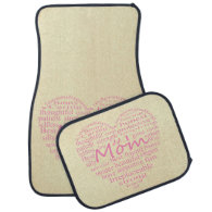 Definition Of A Mother-Heart Outline Floor Mat