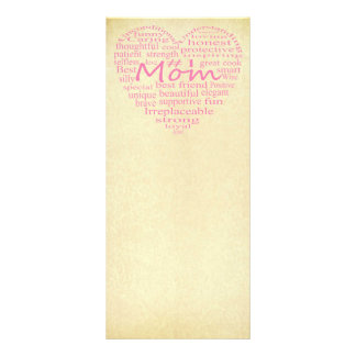 Definition Of A Mother-Heart Outline Custom Rack Cards